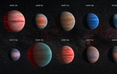 Ten hot Jupiter exoplanets