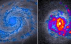 Spiral Galaxy And Clumpy Galaxy