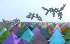 3-D Image Of FDT Molecules On Perovskite Crystals Surface