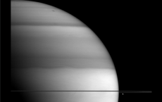 Methane Saturn With Bright And Dark Bands