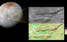 Canyons on Charon
