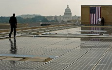 Energy Secretary Bodman Open Solar Power System On Energy Dept. Build