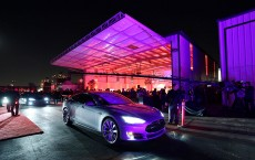 Tesla CEO Elon Musk Unveils New Vehicle Credit: Kevork Djansezian / Stringer