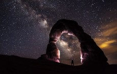 Starry Night Under Delicate Arch