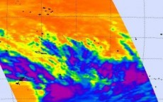 NASA Infrared Image of Tropical Storm 11P