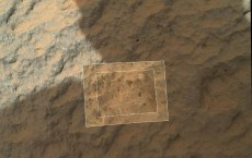 Mars Rover Curiosity Gets Close Look at the Rock Sample