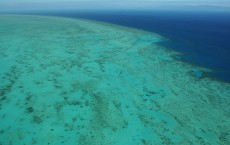 Donut Shaped Reef Below The Great Barrier Reef