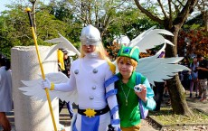 Cosplayers of Angemon and Takeru Takaishi, Digimon at CWT42 20160213a