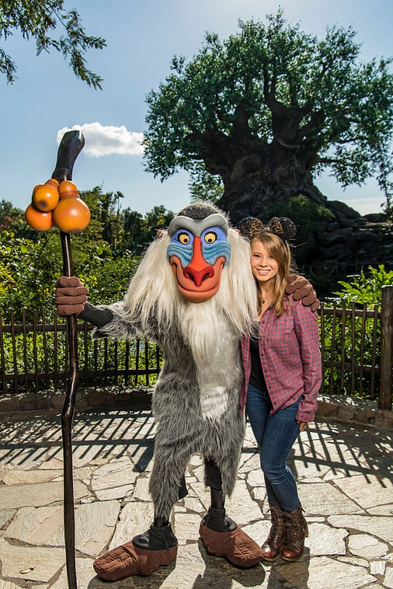 Conservationist Bindi Irwin visits Disney's Animal Kingdom