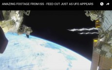 Amazing Footage From ISS -- Feed Cut Just As UFO Appears