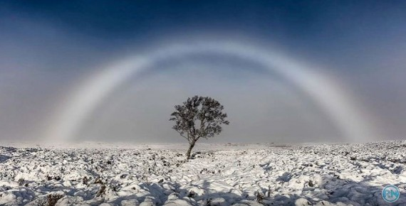 Stunning Picture Of Rare 'White Rainbow' Captured In Scotland