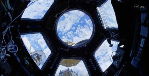 Space Station Fisheye Fly-Through 4K
