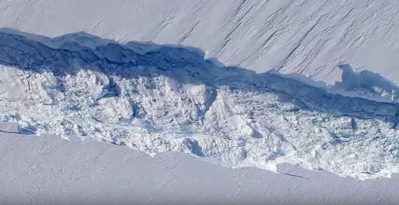 Crack In Ice Shelf