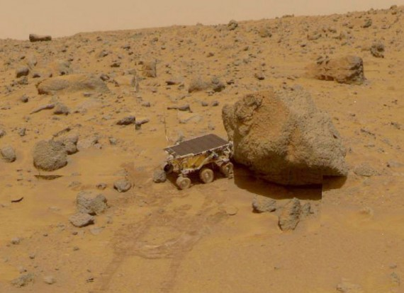 NASA Pathfinder Sojourner Rover On Mars