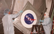 Logo Goes On U.S. Laboratory Destiny