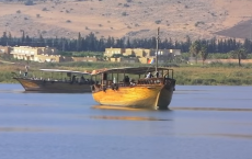 Tourists Visit The Sea Of Galilee