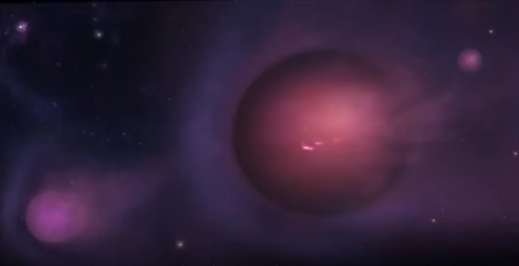 Planet-Size Gas Ball