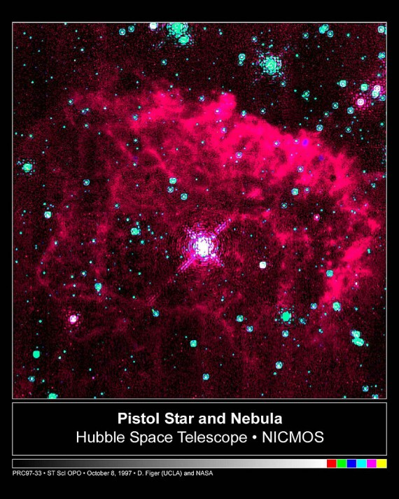 One Of The Intrinsically Brightest Stars In Our Galaxy Appears As The Bright White Dot In The Center