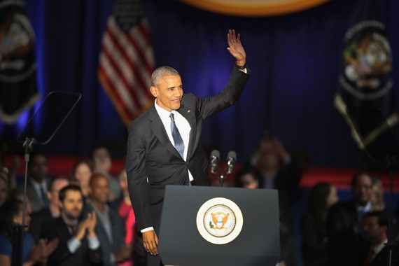Outgoing President Barack Obama