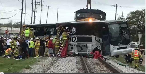 Mississippi Train and Bus Accident