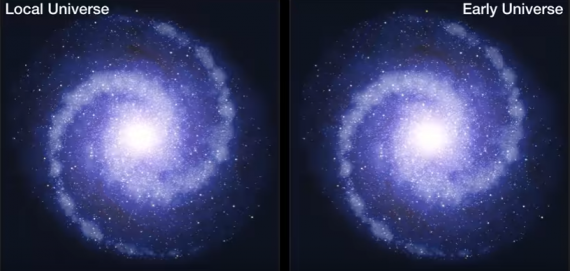 ESOcast 100 Light: Dark Matter Less Influential In Early Universe