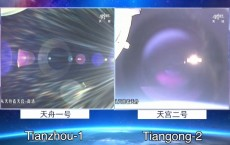 China's Tianzhou-1 Docks With Tiangong-2