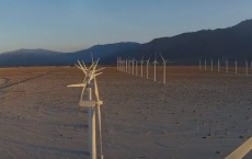 Palm Springs Wnd Farm Windmills Aerial Flyover