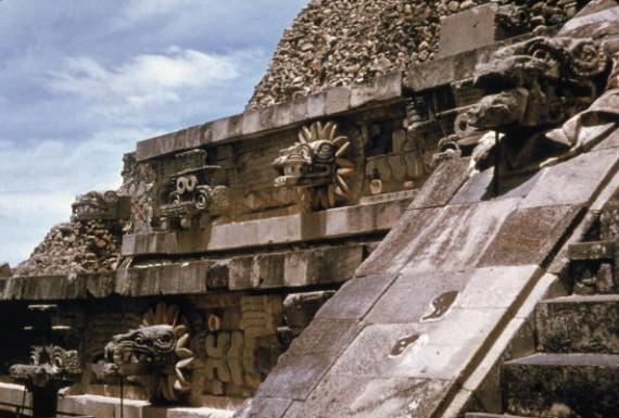 Figures On Quetzalcoatl Temple