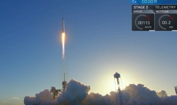 SpaceX's Falcon 9 Rocket Carrying The Intelsat 35e Satellite Launched Successfully