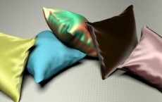 fabrics simulated by using the model Sadeghi and colleagues developed. From left to right: silk crepe de chine, linen plain, silk shot fabric, velvet and polyester satin charmeuse.