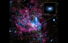 Supermassive black hole Sagittarius A* at the heart of the Milky Way galaxy.