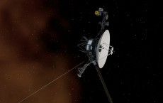 NASA's Voyager 1 spacecraft entering interstellar space, or the space between stars. Interstellar space is dominated by the plasma, or ionized gas