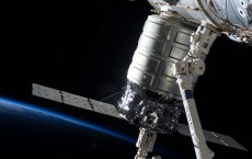 Cygnus cargo spacecraft docked with ISS.