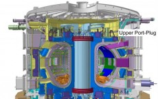 Cross section of the ITER test reactor.